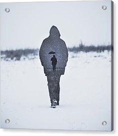Gone Acrylic Print by Joanna Jankowska