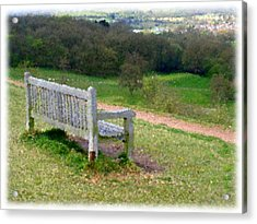 Benches Acrylic Print featuring the photograph Gone by Roberto Alamino