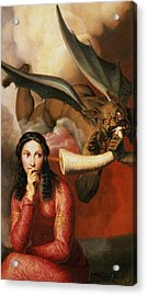 Good And Evil Acrylic Print by AJV Orsel