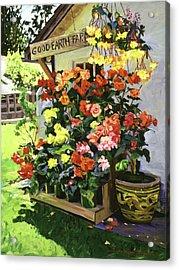 Good Earth Farm Acrylic Print by David Lloyd Glover