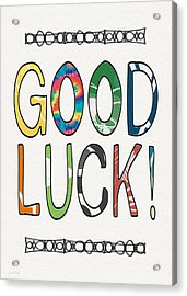 Good Luck Card- Art By Linda Woods Acrylic Print by Linda Woods