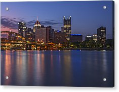 Good Morning Pittsburgh Acrylic Print by Rick Berk