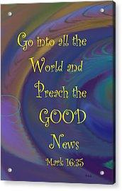 Good News Acrylic Print by Trish Jenkins
