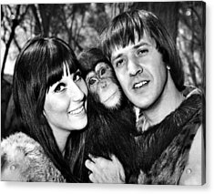 Good Times, Cher, Sonny Bono, On Set Acrylic Print by Everett