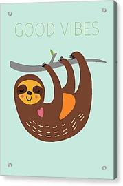 Good Vibes Acrylic Print by Nicole Wilson