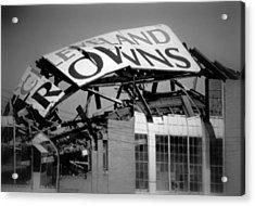 Goodbye Cleveland Stadium Acrylic Print by Kenneth Krolikowski