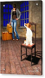 Goodbyes Aren't Easy Acrylic Print by Liane Wright