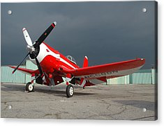 Goodyear F2g-1 Corsair N5588n Acrylic Print by Brian Lockett