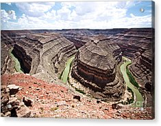 Goosenecks State Park In Utah Acrylic Print by Ryan Kelly