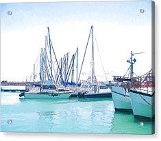 Gordon's Bay Harbour Acrylic Print by Jan Hattingh