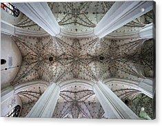 Gothic Ribbed Vault Of Torun Cathedral Acrylic Print by Artur Bogacki