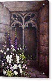 Gothic Wedding Bouquet Acrylic Print by Sean Conlon