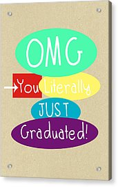 Graduation Card Acrylic Print by Linda Woods