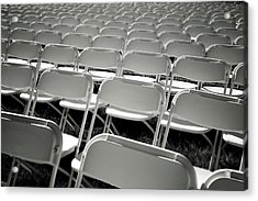 Graduation Day- Black And White Photography By Linda Woods Acrylic Print by Linda Woods