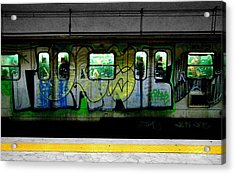 Urban Acrylic Print featuring the photograph Graffiti Train by Roberto Alamino