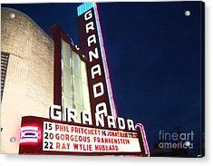 Granada Theater Acrylic Print by Debbi Granruth