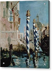 Grand Canal Acrylic Print by Edouard Manet