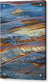 Grand Prismatic Runoff Acrylic Print by Bruce Gourley