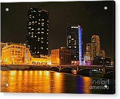 Grand Rapids Mi Under The Lights-2 Acrylic Print by Robert Pearson