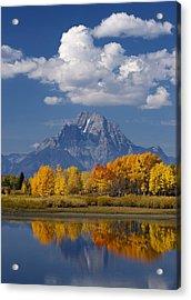 Grand Teton Xii Acrylic Print by John Blumenkamp