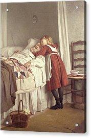 Grandfathers Little Nurse Acrylic Print by James Hayllar