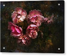 Grandmother's Roses Acrylic Print by Ron Jones