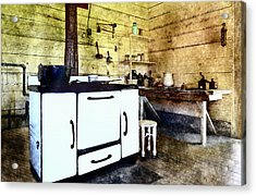 Grannies Kitchen Acrylic Print by Susan Leggett
