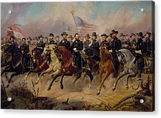 Grant And His Generals Acrylic Print by War Is Hell Store