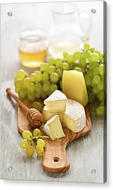 Grape, Honey And Cheese Acrylic Print by Verdina Anna