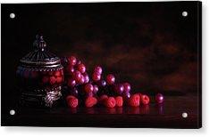 Grape Raspberry Acrylic Print by Tom Mc Nemar
