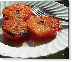 Grapefruit Brulee With Pomegranate Liqueur Acrylic Print by James Temple
