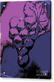 Grapes Of Wrath - Digital Art Acrylic Print by Marsha Heiken