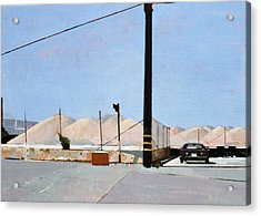 Gravel Piles Downtown La Acrylic Print by Peter Wilson