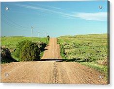 Gravel Rock Road Acrylic Print by Todd Klassy