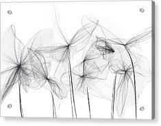 Grayish Spring - Modern Art Acrylic Print by Lourry Legarde