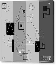 Gray Geometry 3 Acrylic Print by Eloise Schneider