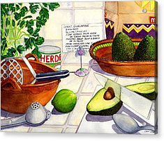Great Guac. Acrylic Print by Catherine G McElroy