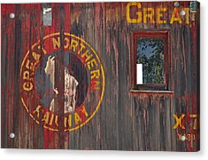 Great Northern Railway Old Boxcar Acrylic Print by Bruce Gourley