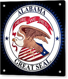 Great Seal Of The State Of Alabama Acrylic Print by Ryan Wilson