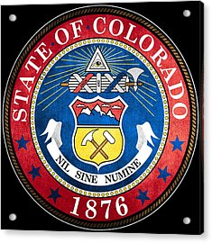 Great Seal Of The State Of Colorado Acrylic Print by Mountain Dreams