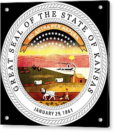 Great Seal Of The State Of Kansas Acrylic Print by Mountain Dreams