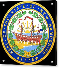 Great Seal Of The State Of New Hampshire Acrylic Print by Mountain Dreams