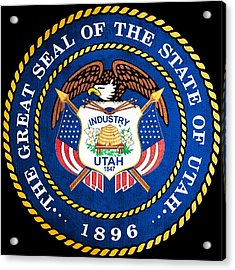 Great Seal Of The State Of Utah Acrylic Print by Mountain Dreams