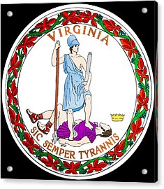 Great Seal Of The State Of Virginia Acrylic Print by Mountain Dreams