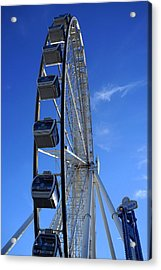 Great Smoky Mountain Wheel Acrylic Print by Laurie Perry