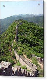Great Wall Of China Acrylic Print by Natalia Wrzask