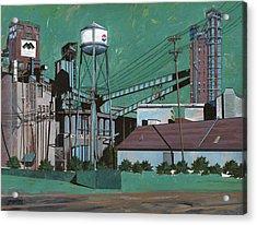 Great Western Malting Acrylic Print by John Wyckoff