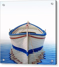 Greek Boat Acrylic Print by Horacio Cardozo
