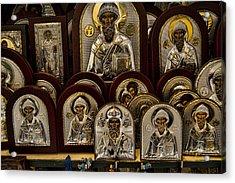 Greek Orthodox Church Icons Acrylic Print by David Smith