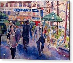 Greeley Square Acrylic Print by Joyce Kanyuk